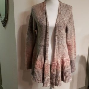 Anthropologie knitted & knotted cardigan new